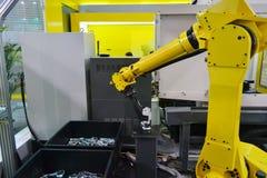 Industrieel robotwapen Stock Fotografie