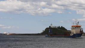 Industrieel schip stock videobeelden