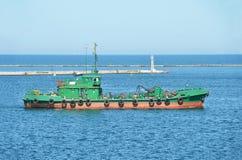 Industrieel schip stock foto's