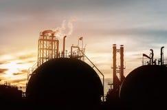 Industrieel Silhouet Royalty-vrije Stock Afbeeldingen