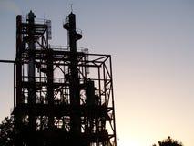 Industrieel silhouet. Stock Fotografie