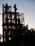 Industrieel silhouet. Royalty-vrije Stock Foto