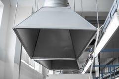 Industrieel systeem van ventilatie en airconditioning stock foto's