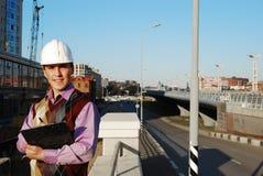 Industrieel thema: architect. Stock Foto