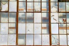 Industrieel venster Stock Foto's