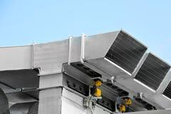 Industrieel ventilatiesysteem Stock Afbeeldingen