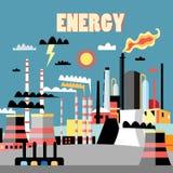 Industrieenergiehintergrund Stockfotos