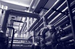 Industriegas- und -schmierölanlagen stockbild