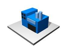 Industriegebäude - industrieller Herstellungs-Durchmesser Stockbild