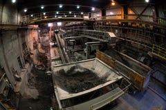 Industriegebäudeinnenraum Stockfoto