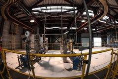 Industriegebäudeinnenraum Stockbild