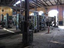 Industriegebäude mit Werkzeugmaschinen Lizenzfreie Stockfotografie