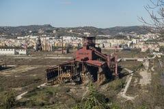 Industriegebiet Bagnoli Stockbild