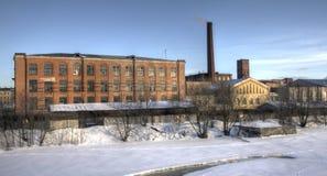 Die städtische Landschaft. Winter. Stockbilder