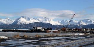 Industriegebiet in Homer Alaska Lizenzfreie Stockfotos