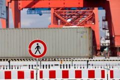 Industriegebiet tragen nicht Zeichen ein Stockfotografie