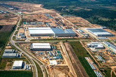 Industriegebietlandentwicklung Stockbild