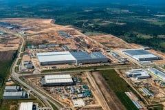 Industriegebietlandentwicklungserdverlagerung Lizenzfreies Stockfoto