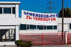 Industrieimmobilien für Miete/Verkauf Stockfoto