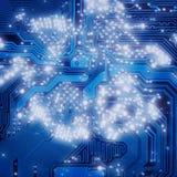 industriel électronique foncé bleu de fond Image libre de droits
