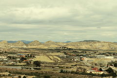 Industrielandschaft in Lorca Stockfoto