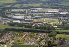 Industrielandschaft nahe Dortmund, Deutschland Lizenzfreies Stockbild