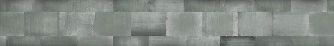 Industriell-ähnlicher einfarbiger Metallhintergrund (Briefkasten Format) stockfoto