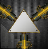 Industriell ångabakgrund med triangeltextfält Arkivfoto