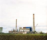 industriell övergiven fabrik royaltyfri foto