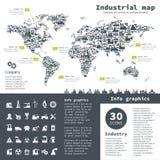 Industriell översikt royaltyfri illustrationer