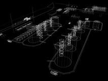 Industriell abstrakt arkitektur Fotografering för Bildbyråer
