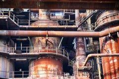 Industriell arkitektur från Ostrava royaltyfri fotografi