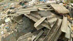 Industriell avfalls på en kommunal nedgrävning av sopor Fågel`-s-öga sikt lager videofilmer