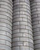Industriell bakgrund av korn slänga i soptunnan royaltyfria bilder