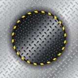 Industriell bakgrund med den guling gjorde randig cirkeln vektor illustrationer