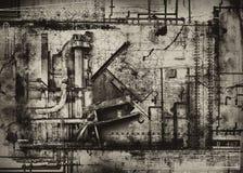 industriell bakgrundsgrunge royaltyfri illustrationer