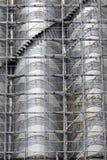Industriell behållarelagring Arkivfoto