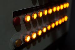 Industriell belysningkontrollbord Royaltyfria Foton