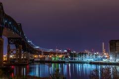industriell bro royaltyfri bild