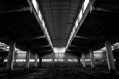 Industriell byggnadsinterior Royaltyfri Fotografi