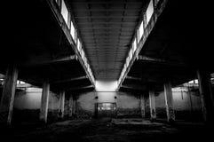 Industriell byggnadsinterior Royaltyfri Foto