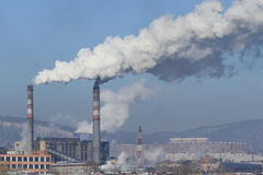 Industriell cityscape Arkivfoto
