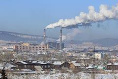 Industriell cityscape Arkivbilder
