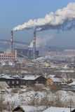 Industriell cityscape Royaltyfria Foton