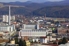 Industriell del av staden Trencin royaltyfria bilder