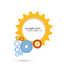 Industriell design för färgrika kugghjul Arkivfoton