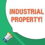 Industriell egenskap för ordhandstiltext Affärsidé för den ogripbara äganderätten av ett enormt mellanrum för varumärke eller för vektor illustrationer