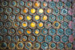 Industriell exponeringsglas- och ståltextur Arkivfoton