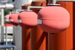 Industriell för uppvärmningsystem för termisk växt kokkärl arkivfoton