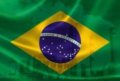 Industriell förorening i Brasilien royaltyfri illustrationer